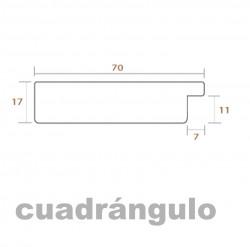 Set tres cuadros Morado y Marco Aluminio