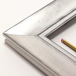 Cuadro abstracto platas y blanco roto