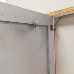 Espejo Vestidor con polipiel gris ceniza