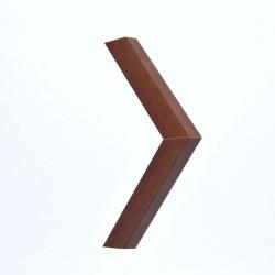 Marco madera color nogal 3 cm.