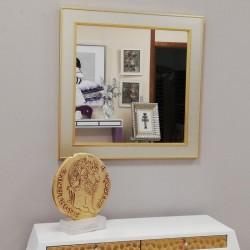 Espejo con marco Plata y Oro