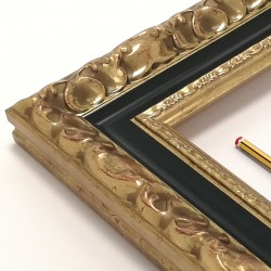 marco oro viejo y talla