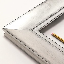marco madera plata rozada