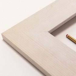 marco madera color blanco roto
