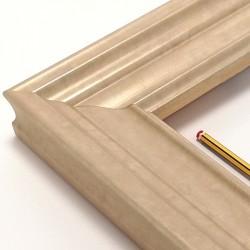 marco madera color champan 8 cm.