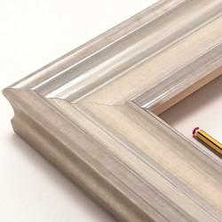 Marco madera color plata y...