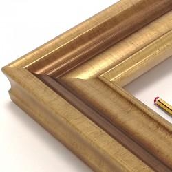 marco madera oro viejo