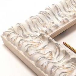 Marco madera labrada Blanco...