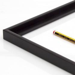 Marco aluminio negro 2 cm.
