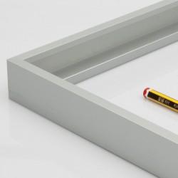 Marco aluminio plata 3 cm.