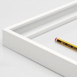 Marco aluminio blanco 3 cm.