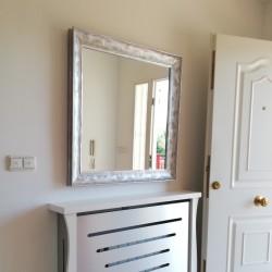 Espejo marco plata