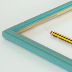 Marco madera peque Turquesa