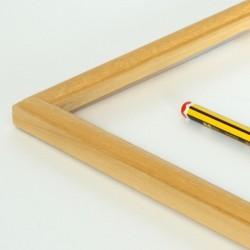 marco pequeño  madera natural