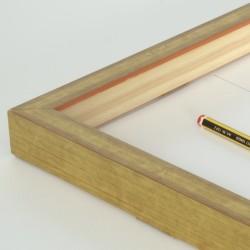Marco madera dorado galce alto