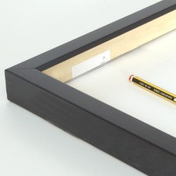 marco cajón madera negro