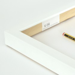 Marco madera lacado blanco...