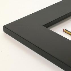 Marco madera lacado negro 7...