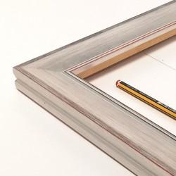 Marco madera plateado...