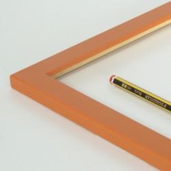 Marco madera naranja 2 cm.