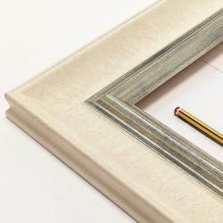 marco color marfil y plata vieja